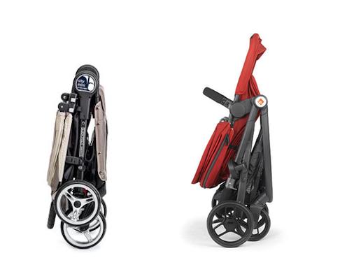 rear facing stroller fold