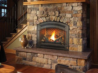 Fireplace Baby Proof - Stepped Hearth Example