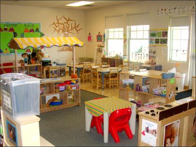 Toy Storage Ideas - Kindergarten Class Room
