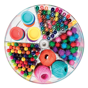 Toy Storage Ideas - Divided lazy susan