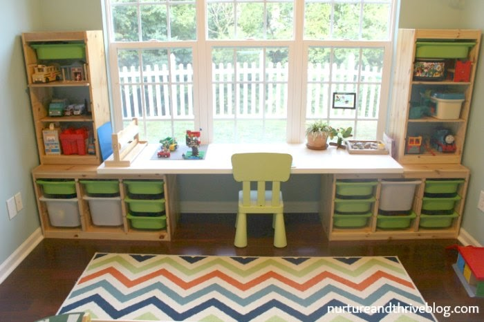 create a kids workspace: toddler desk
