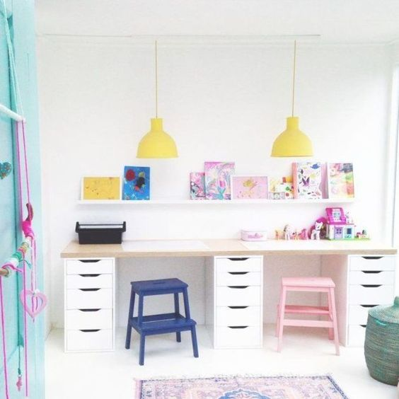 create a kids workspace: double kids desk