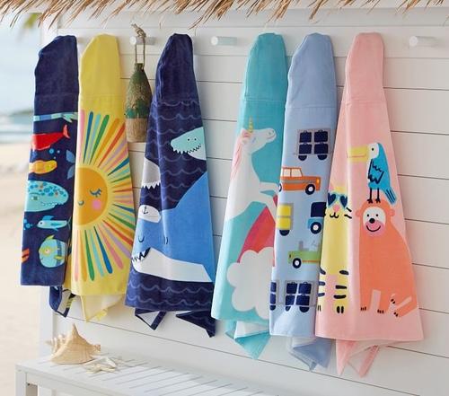 Pottery Barn Kids Hooded Beach Towels