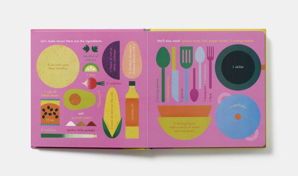 sensory books for toddlers -- Taco recipe